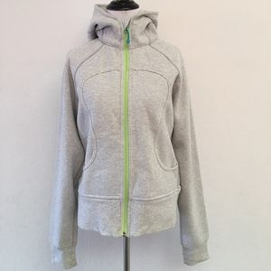 Lululemon Gray Scuba Hoodie Jacket Size 8